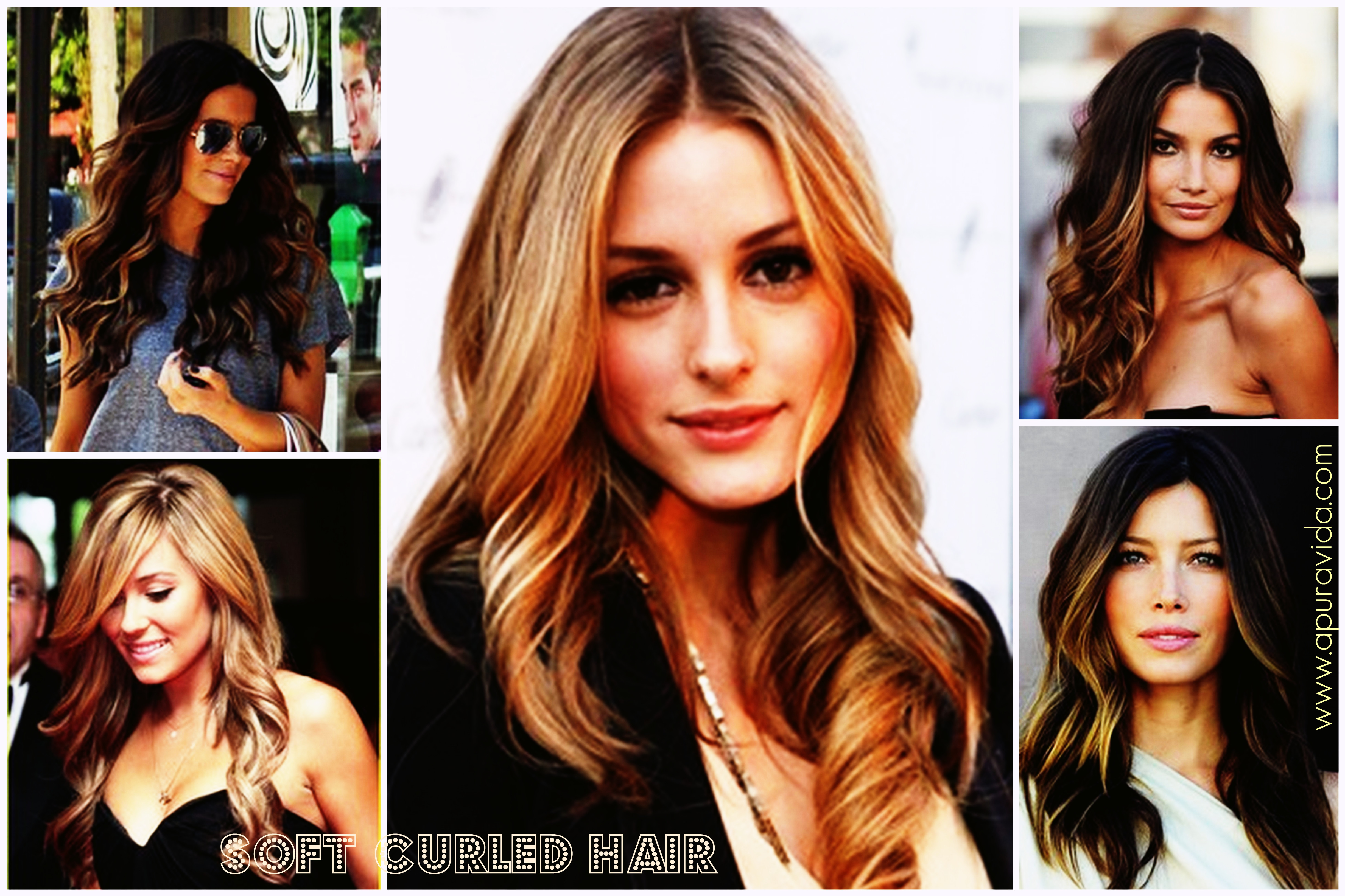 curled hair collage - www.apuravida.com